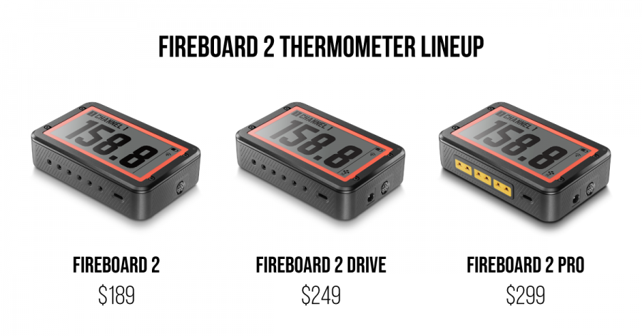 Fireboard 2 Thermometer Lineup
