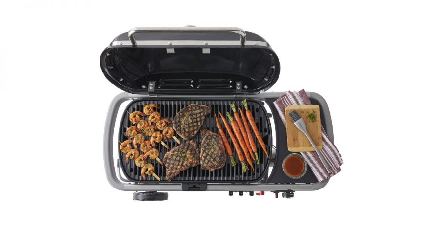 Weber Traveler Gas Grill Cooking Space
