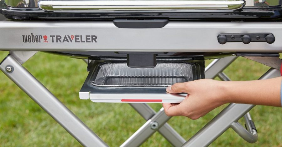Weber Traveler Gas Grill Removable Grease Pan
