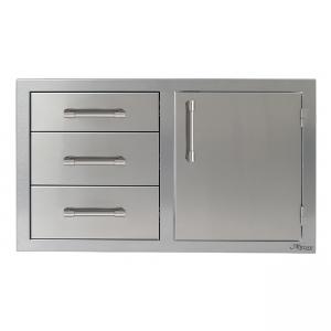 Alfresco Grills 32 Inch Door and Triple Drawer Combo