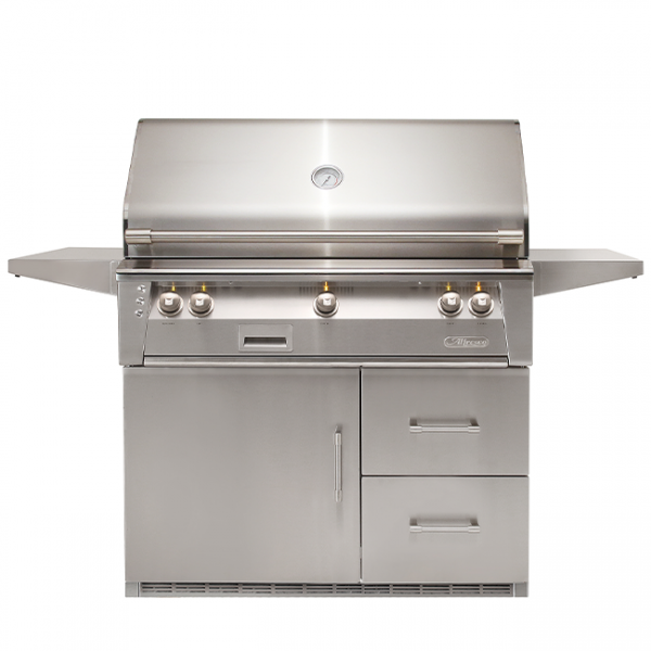 "alfresco grills 42"" refrigerated cart gas grill"