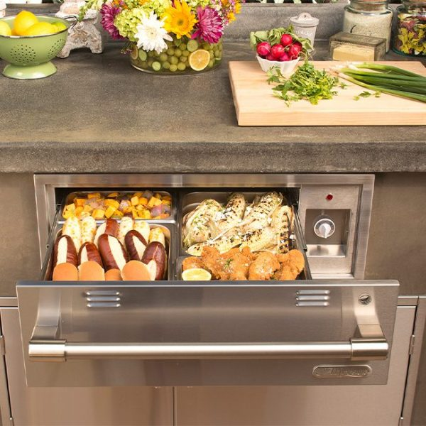 alfresco grills warming drawer
