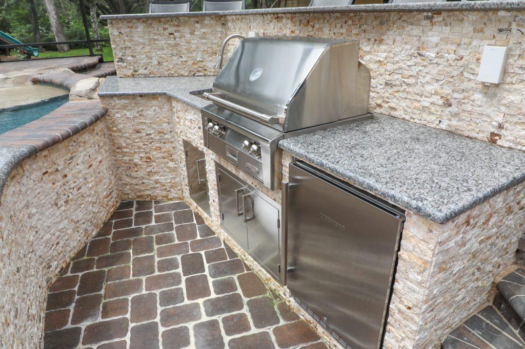 Alfresco Gas Grill, Liebherr Outdoor Fridge and Outdoor Kitchen