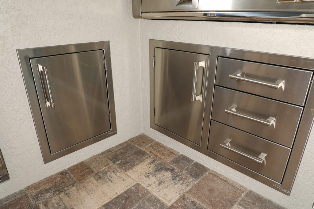 alfresco grills combo doors and drawers