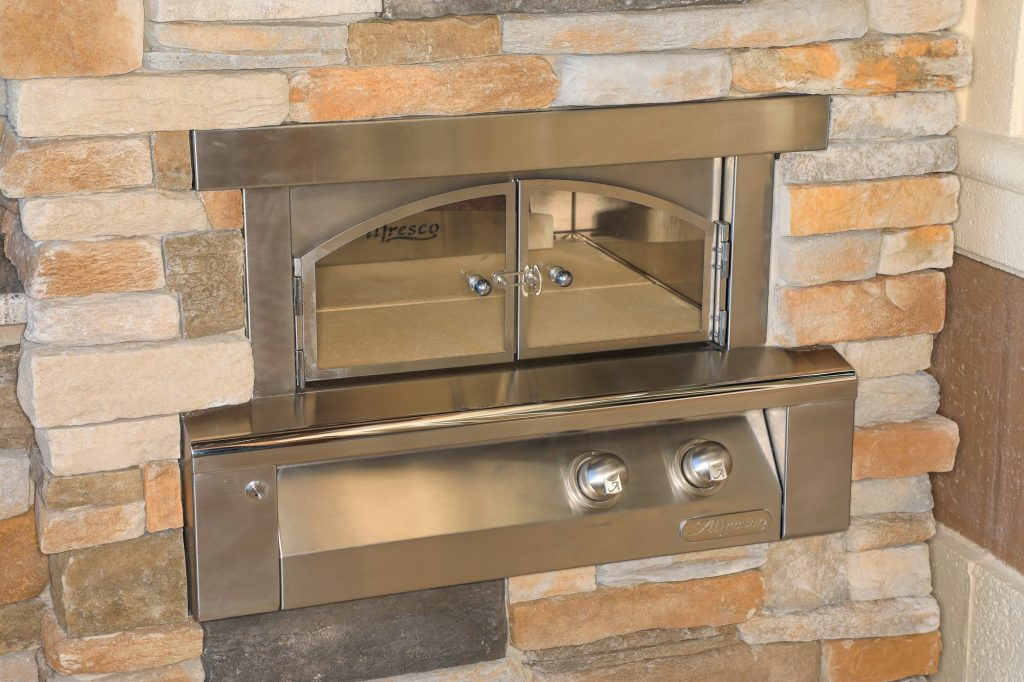 Alfresco Pizza Oven Plus Built-In With Stonework