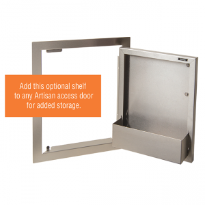 artisan grills door shelf