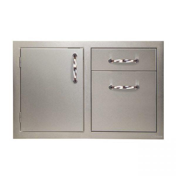 artisan grills door drawer combo