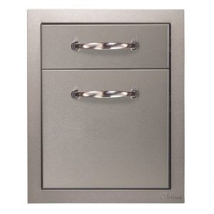 artisan grills double drawer unit