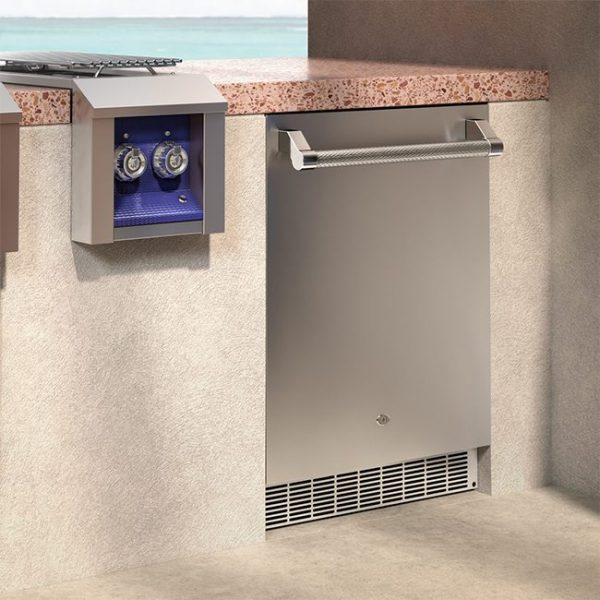 Aspire By Hestan 24-Inch Outdoor Refrigerator Installed