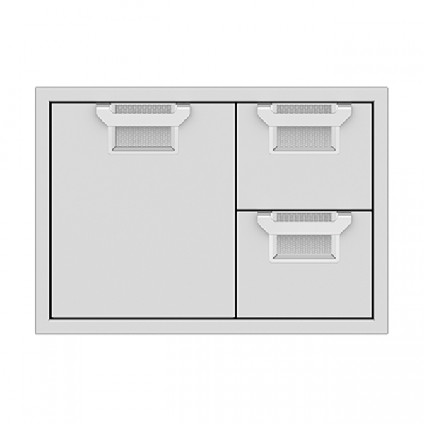 Aspire By Hestan 30-Inch Double Drawer And Door Storage Combo Stainless Steel