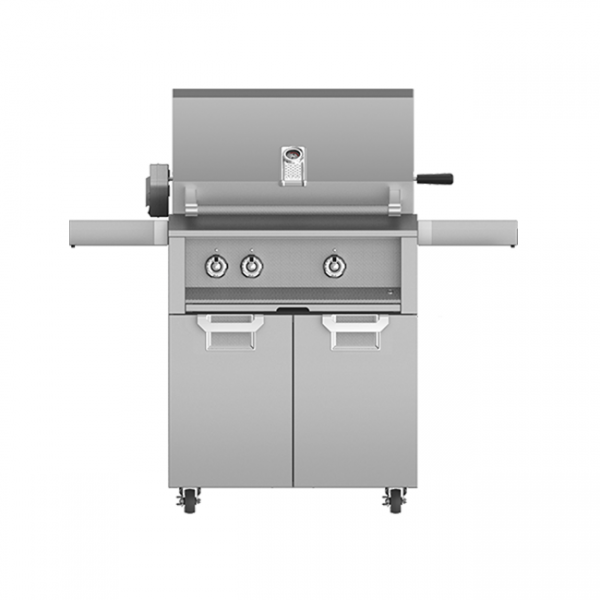 Aspire By Hestan 30-Inch Gas Grill On Cart With Rotisserie Steeleto