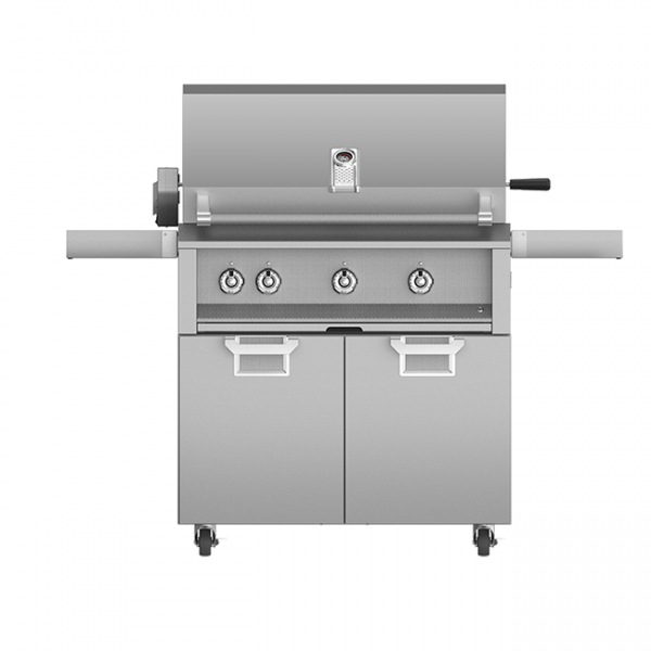 Aspire By Hestan 36-Inch Gas Grill On Cart With Rotisserie Steeleto