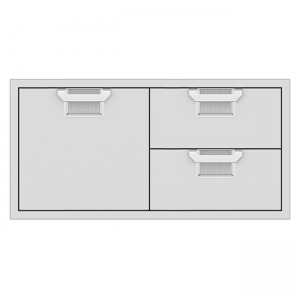 Aspire By Hestan 42-Inch Double Drawer And Door Storage Combo Stainless Steel