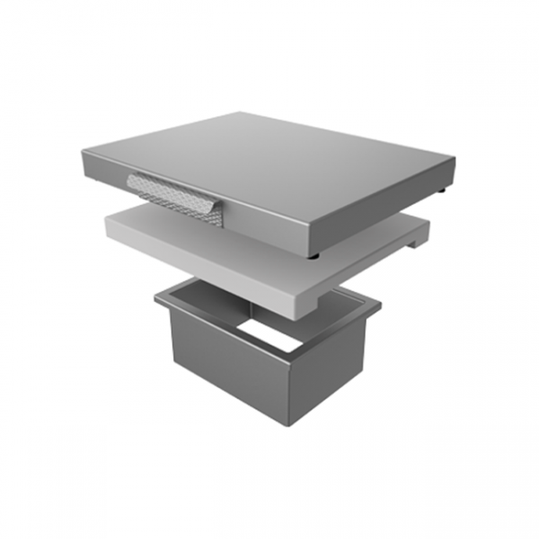 Aspire By Hestan Countertop Trash Chute With Cutting Board Stainless Steel Cover