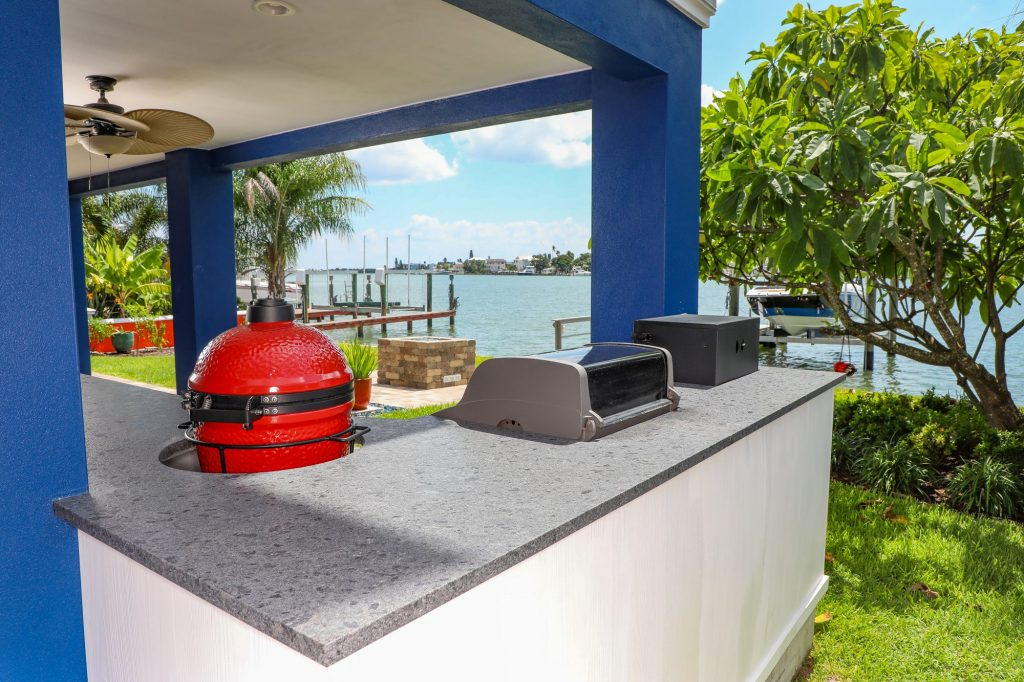 kamado joe built-in outdoor kitchen