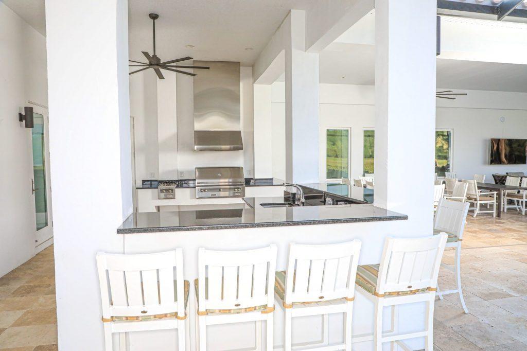 outdoor kitchen fireplace lutz florida