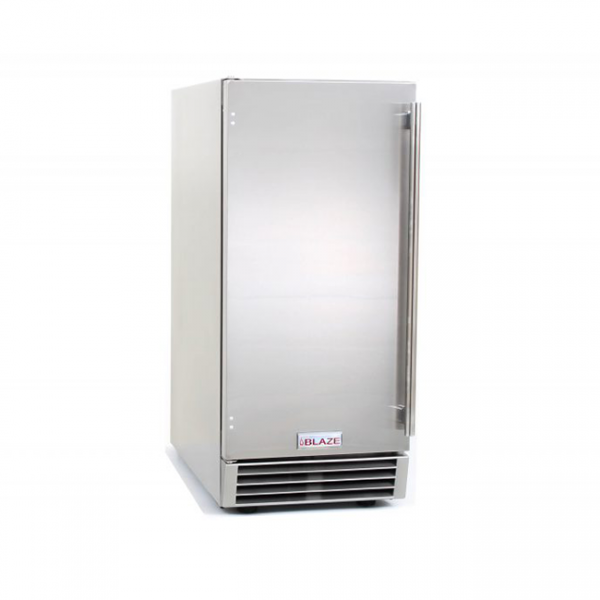 Blaze 15 Inch Outdoor Ice Maker with Gravity Drain