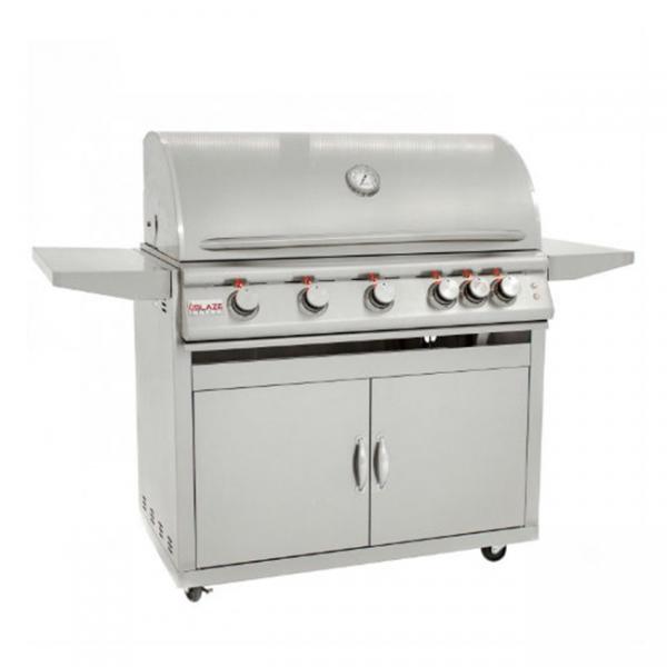 blaze 40 inch 5-burner lte gas grill cart