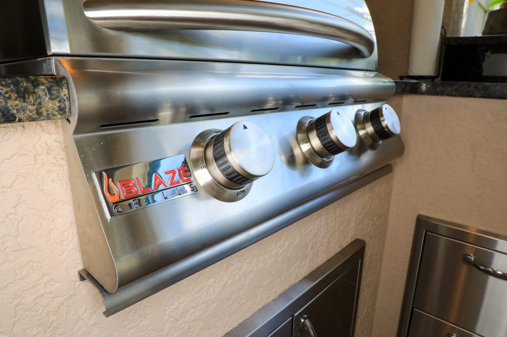 blaze grills gas grill in outdoor kitchen