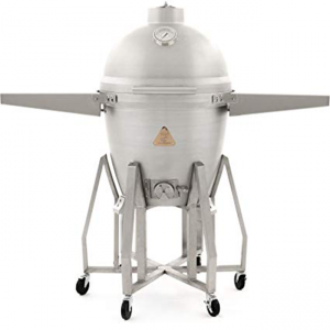 blaze 20 inch kamado grill freestanding with shelves
