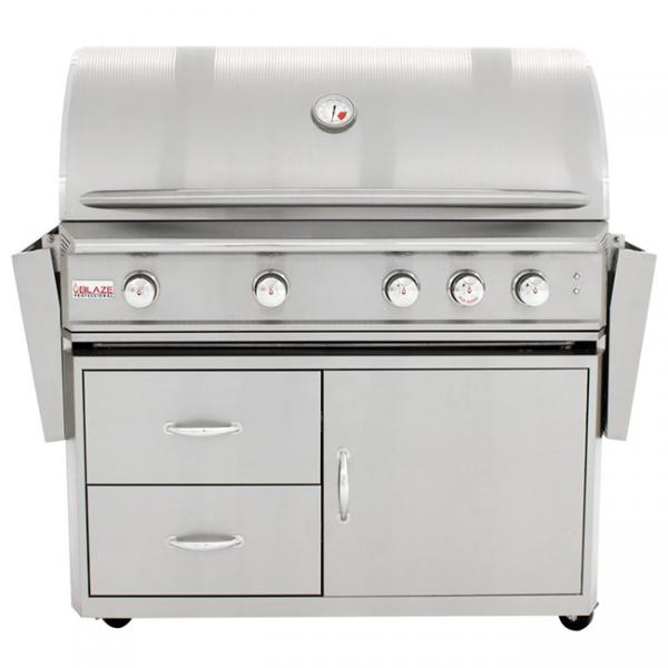 blaze professional 44 inch 4-burner gas grill cart