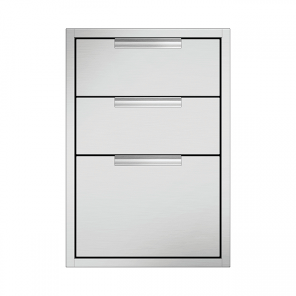 DCS Grills Built-In Triple Tower Drawer Storage Units