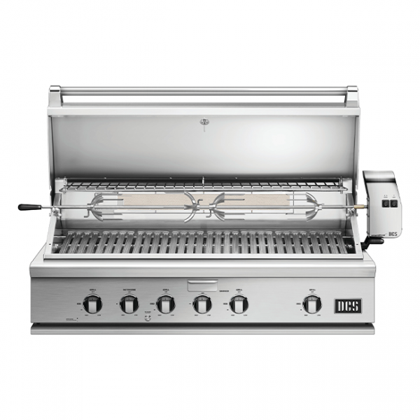 DCS Grills Series 7 48-Inch Gas Grill with Rotisserie Built-In Lid Open
