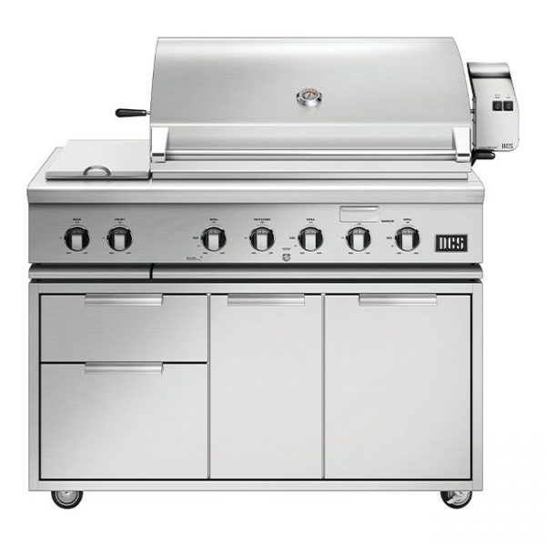 Dcs Grills Series 7 48-Inch Gas Grill Cart With Rotisserie And Double Side Burner