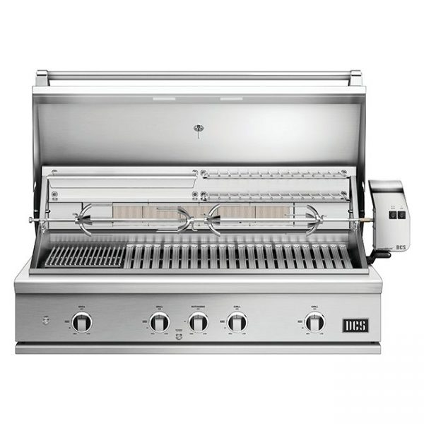 DCS 48-Inch Series 9 Gas Grill Lid Open