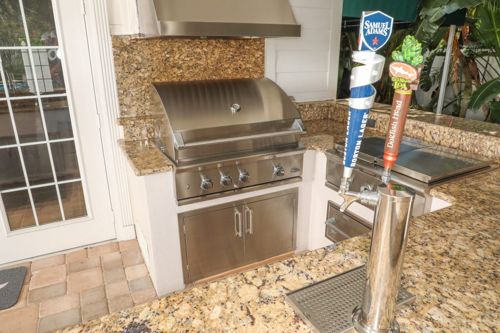 DCS gas grill replacement and kegerator addition