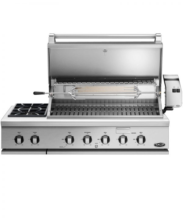 dcs grills 48 inch grill rotisserie side burner