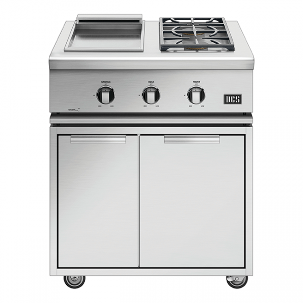 DCS Grills Series 7 30-Inch Double Side Burner & Griddle Combo On Cart
