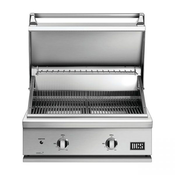 DCS Grills Series 7 30-Inch Gas Grill No Rotisserie Lid Open