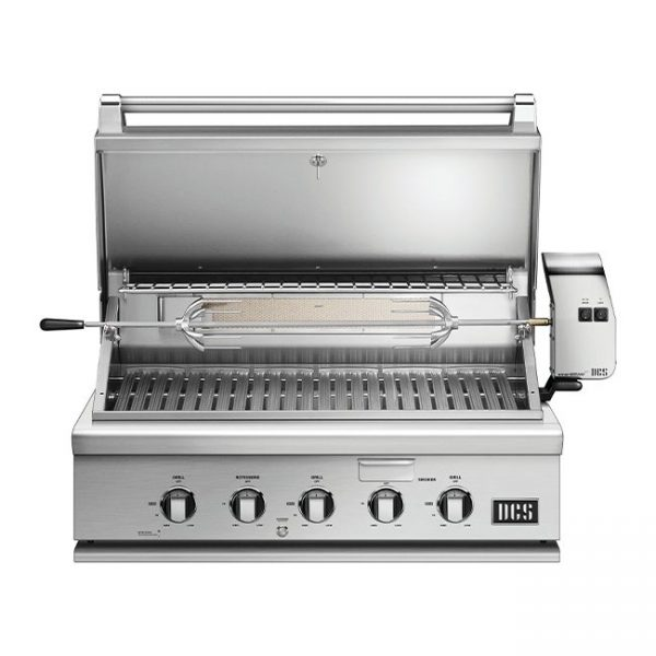 DCS Grills Series 7 36-Inch Built-In Gas Grill Lid Open