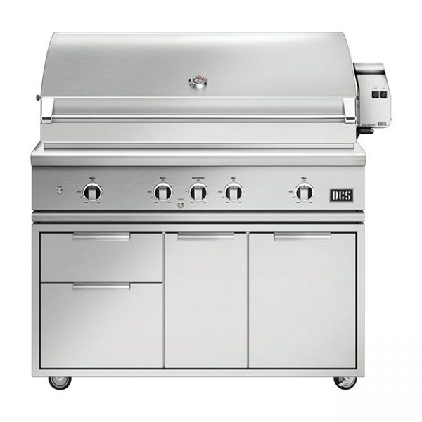 DCS Grills Series 9 48-Inch Gas Grill with Rotisserie and Charcoal On Cart