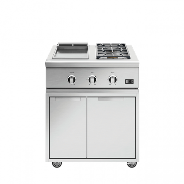 DCS Grills Series 9 Double Side Burner and Griddle Combo On Cart