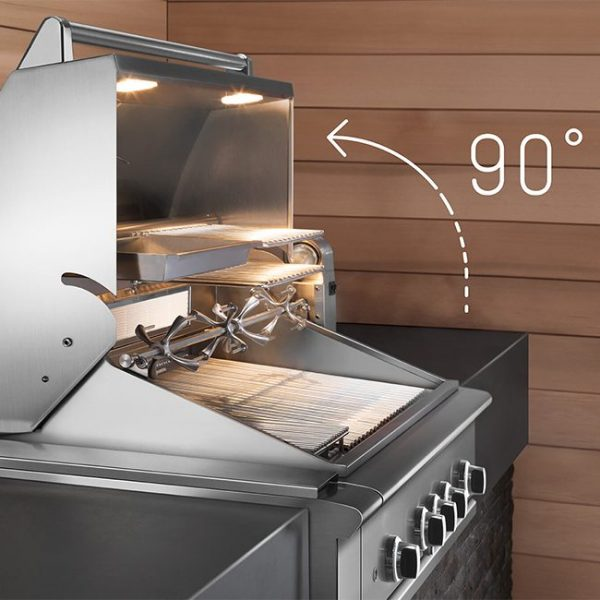 dcs grills easy lift hood