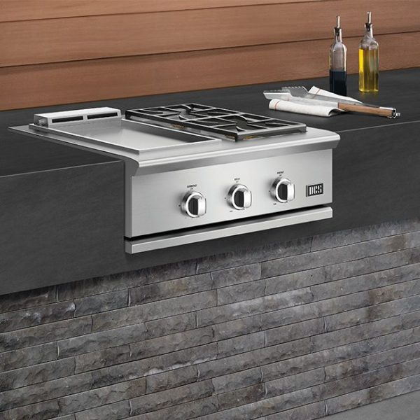DCS Grills Series 9 30-Inch Double Side Burner & Griddle Combo Outdoor Kitchen