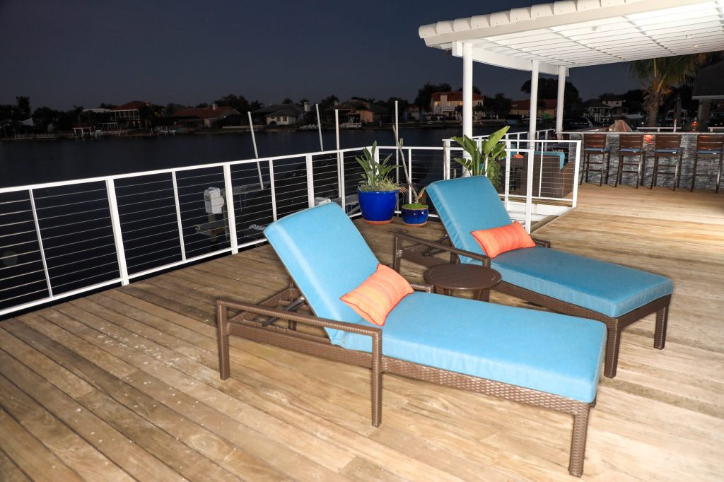 Outdoor Wood Patio Deck And Roof Extension