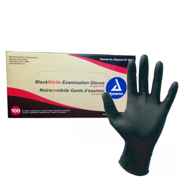 Black Nitrile Gloves - Latex Free