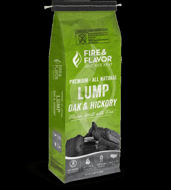 Fire & Flavor Premium Oak & Hickory Lump Charcoal 8 lbs