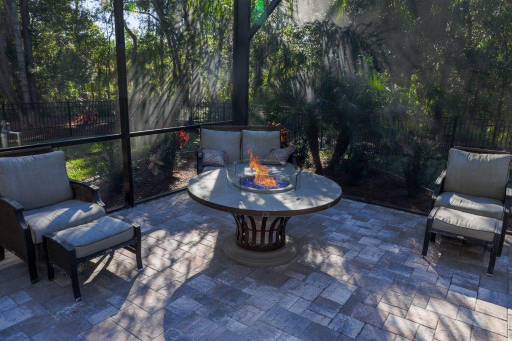 Custom Outdoor Kitchen & Fire Pit In Lutz
