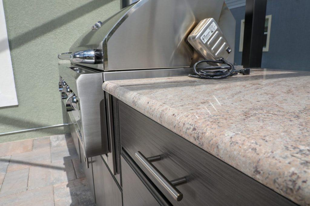 granite counter outdoor kitchen