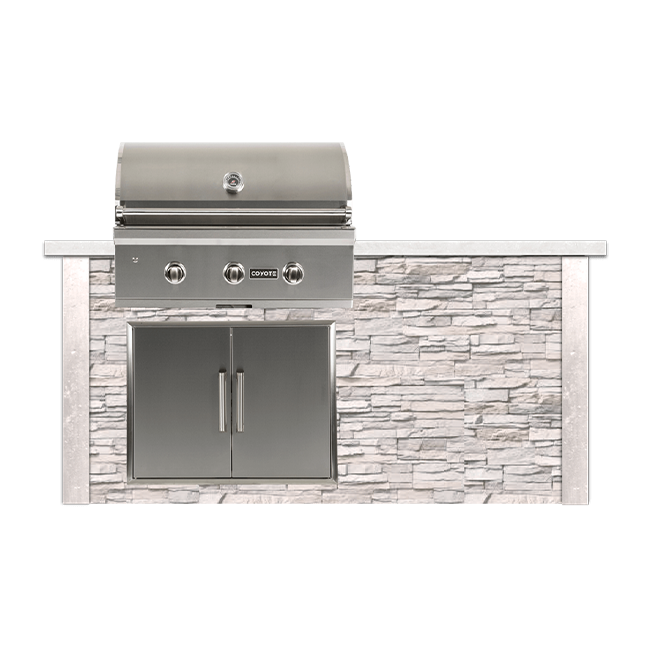 6 Ft Kitchen Island: RTA Outdoor Living 6 Foot Outdoor Kitchen Island