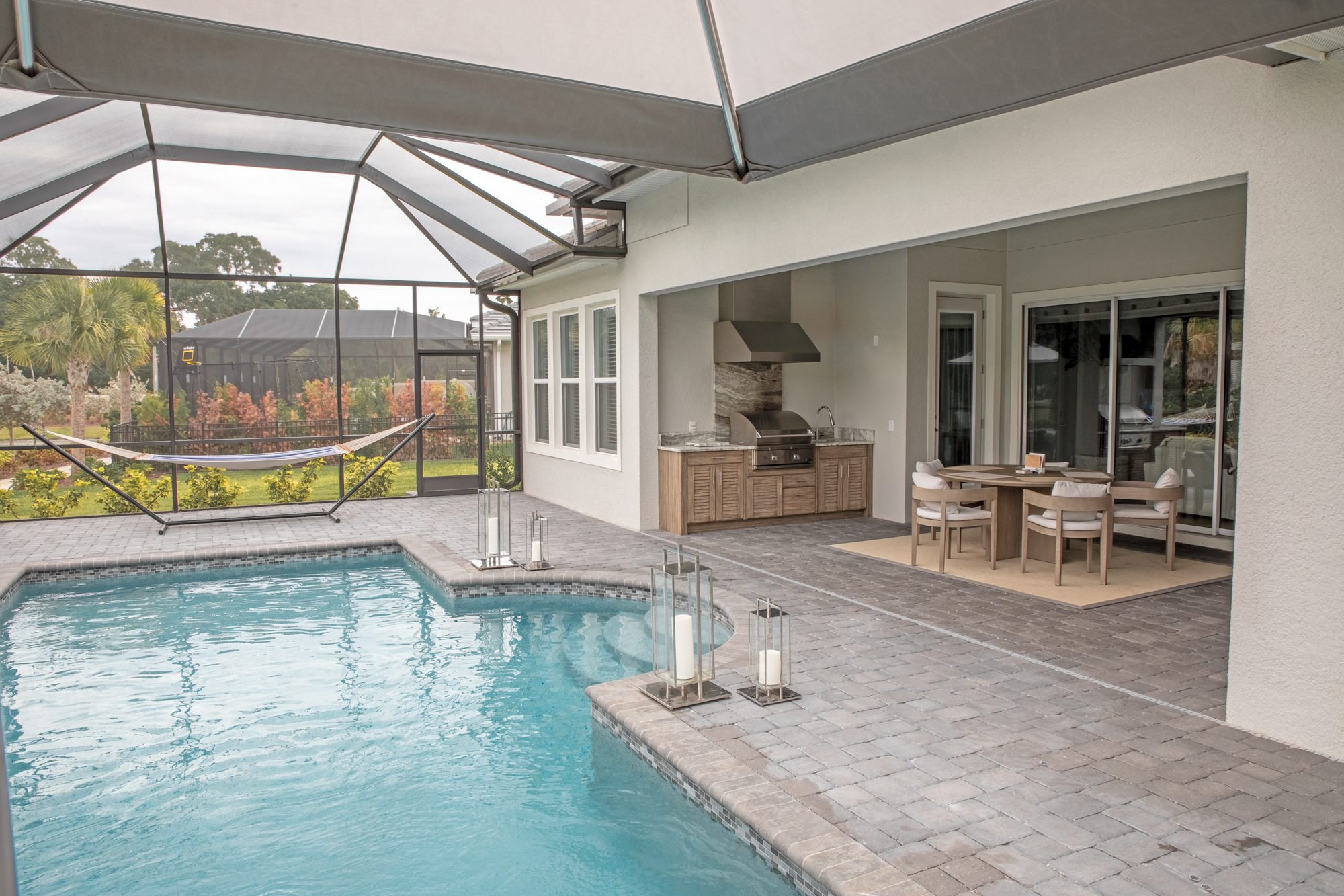 Custom Polymer Outdoor Kitchen In Tampa | Just Grillin Outdoor Living
