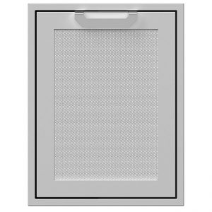 Hestan 20 inch Trash And Recycle Center Storage Drawer Stainless Steel