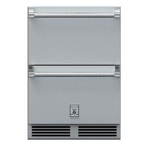 Hestan Outdoor 24-Inch Undercounter Outdoor Refrigerator & Freezer Drawers Steeleto