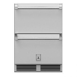 Hestan Outdoor 24-Inch Undercounter Outdoor Refrigerator Drawers Stainless Steel