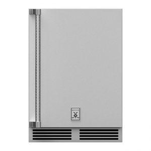 Hestan Outdoor 24-Inch Undercounter Outdoor Refrigerator with Solid Door Stainless Steel