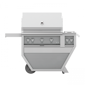 Hestan Outdoor 36-Inch Deluxe Gas Grill Cart Stainless Steel
